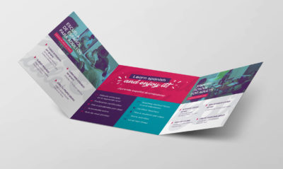 Branding y diseño de folletos La Calle Spanish School